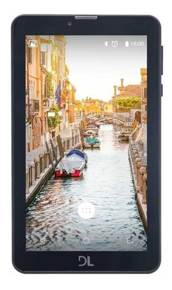 "Tablet DL Mobi Tab TX384 7"" 8GB preto com memória RAM 1GB"