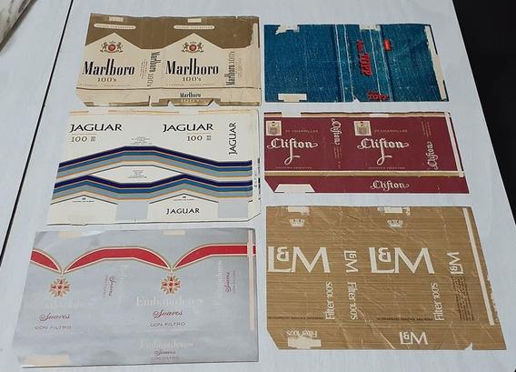 Lote De 6 Marquillas De Cigarrillos Antiguas Argentinas
