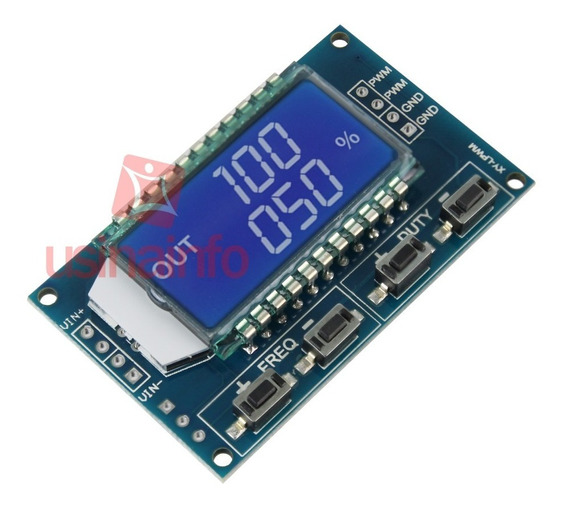 Gerador De Sinal Pwm Com Display Lcd E Duty Cycle E Frequên