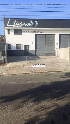 Imagem 1 de 1 de Galpão Para Alugar, 300 M² Por R$ 8.000,00/mês - Parque Da Figueira - Campinas/sp - Ga0685