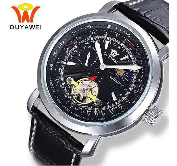 Relógio Automático Ouyawei Masculino Luxo Original