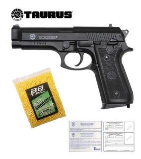 Pistola Taurus Beretta 92® 6mm Metal Airsoft Balines + Diana