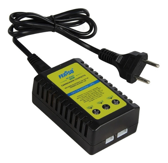 Carregador De Bateria Airsoft Feasso Ff-b3ac Lipo