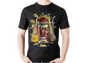 Camiseta Jurassic Park Parque Dos Dinossauros Camisa Filme