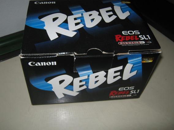 Caixa Original Canon Sl1 Manual Cd Software
