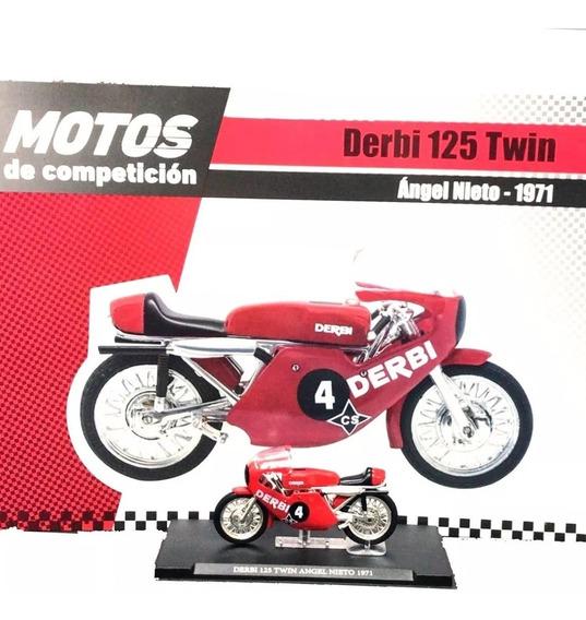 Coleccion Motos Competicion N°25 Derbi 125 Twin Ángel Nieto