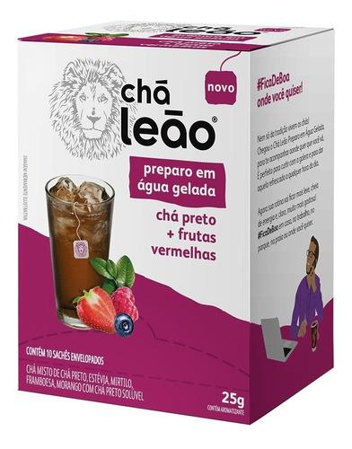 Chá Leão Água Gelada - Chá Preto E Frutas Vermelhas 10 Sachê