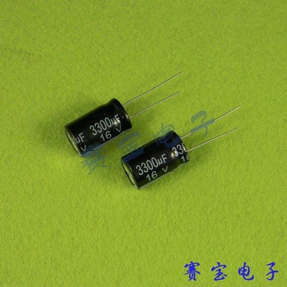 Capacitor Eletrolitico 3300uf X 16v - 4 Peças