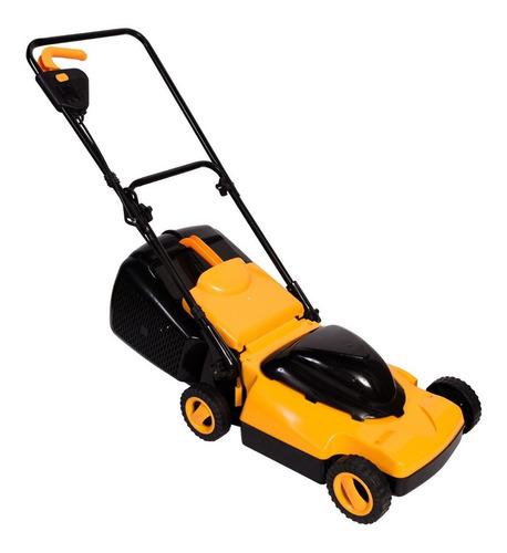 Imagen 1 de 3 de Cortadora de pasto eléctrica Magiclick BM1300W con bolsa recolectora 1300W amarilla y negra 220V