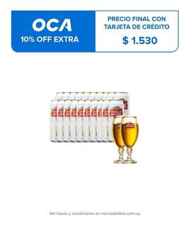 Cerveza Stella Artois 473ml Promo 24x20 + 2 Copas De Regalo