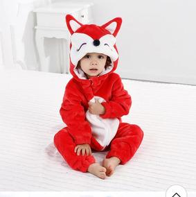 Macacão Infantil Pelúcia Raposa (importado)