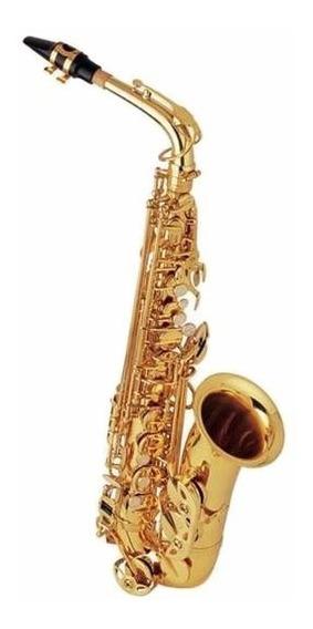 Saxofone Halk Alto Mib Dourado Completo