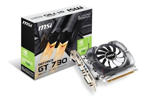 Imagen 1 de 2 de Tarjeta De Video Nvidia Geforce Gt 730 2gb Ddr3 Pci-e Hdmi