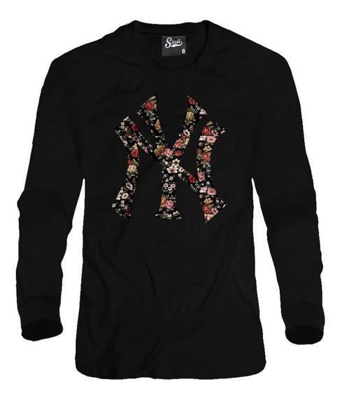 Blusa De Frio New York Ny Floral Moletom Masculino Florido