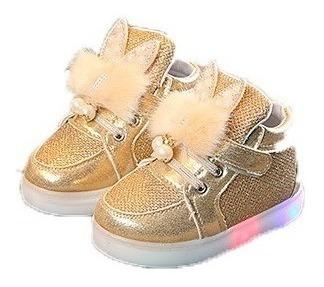 Sapato Tênis Menina Infantil Pisca Pisca Importado Lindo