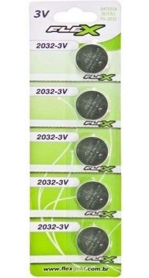 Bateria Cr 2032 Botão Cartela C 5 Flex
