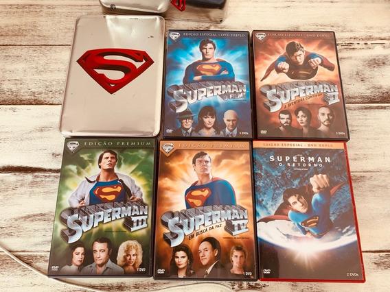 Combo Box Dvd Superman Superhomem - 5 Dvds + Lata Exclusiva
