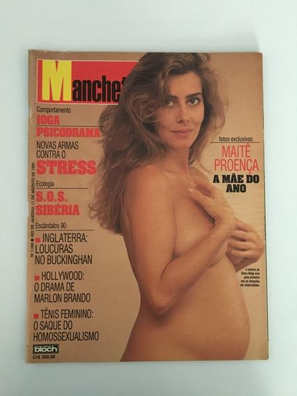 Revista Manchete Maitê Proença - 11 Agosto 1990 Nº 1999