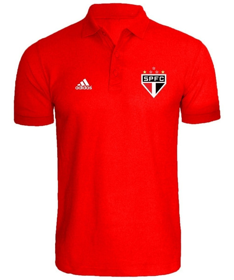 Camisa Camiseta Polo Torcedor São Paulo Masculino