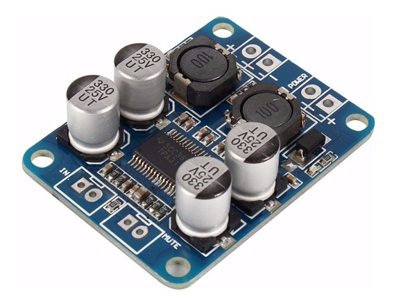 2 Pcs Amplificador Tpa3118 Classe D 10v A 24v Mono 60w Rms