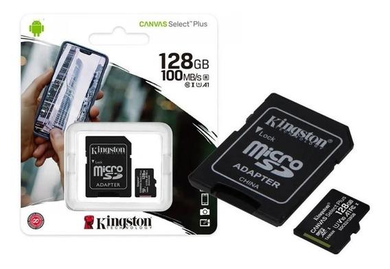 Cartão De Memória Micro Sd 128gb Kingston 100/mbs Promoção!