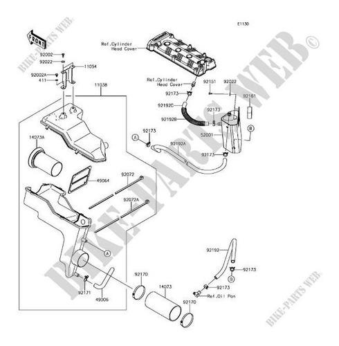 11038-3710 Cj Caixa Filtro De Ar Case-assy-air Filter Kawasa