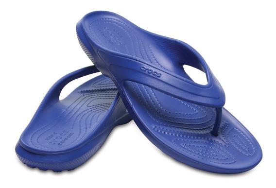 Crocs, Sandalia Unisex, Classic Flip Azul
