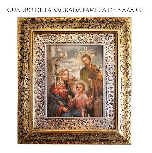 Imagen 1 de 3 de Cuadro Sagrada Familia De Nazaret 45x40 Cm