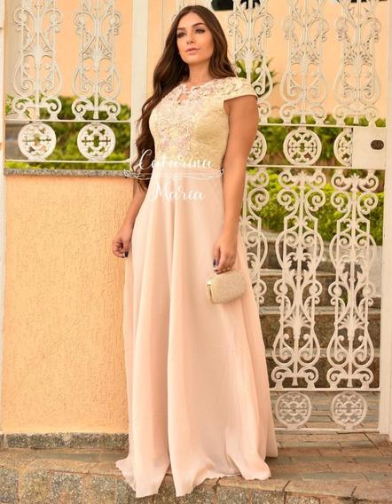 Vestido Longo Formatura Casamento Madrinha Com Manguinha #5