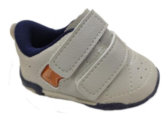Tenis Kidy 008-0497-2945 Bege Velcro