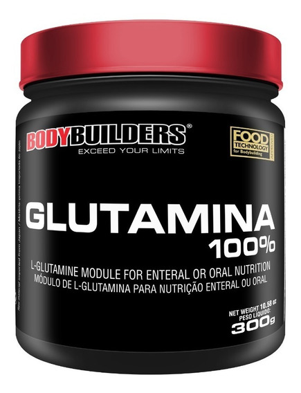 Glutamina 100% 300g - Parcela S/ Juros - 3 = Frete Grátis!