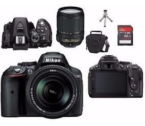 Nikon D5300 C/ Lente 18-140mm + 64gb + Bolsa + Mini Tripé