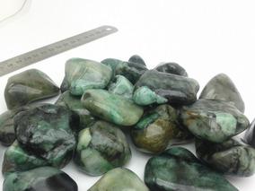 Esmeralda Verde Pedra Polida Rolada 250 Gramas