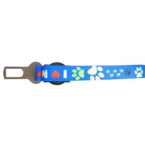 Cinto De Segurança Com Guia I Love My Dog 1m Azul - Waypet