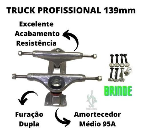 Imagem 1 de 5 de Truck Skate Shock Profissional 139mm Polido + Parafuso Base