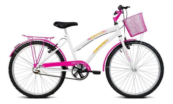 Bicicleta Aro 24 - Breeze - Branco E Pink - Verden Bikes