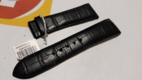 Pulseira Fendi Couro Croco Preto 22mm - Sem Fecho