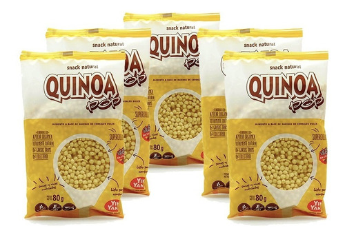 Imagen 1 de 5 de Quinoa Inflada Pop Yin Yang De 80gr Combo X 5un