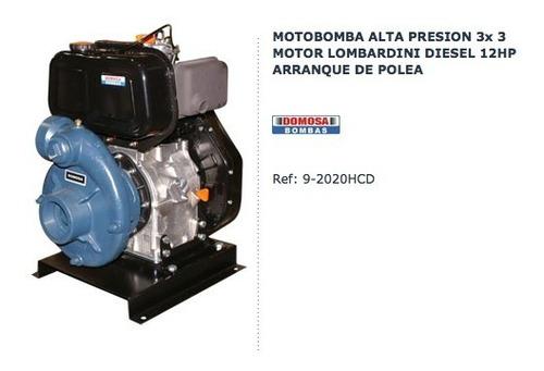 Motobomba Lombardini 12hp 3x3 Diesel Alta Presion 9-2020hcd