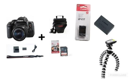 Câmera Canon T6i C/ 18-55mm + Bolsa + 64gb +bateria+tripé