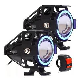 Par Farol Milha Led Moto Universal Neblina U7+1 Interruptor