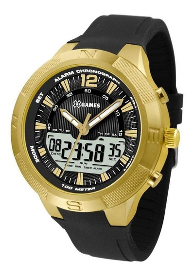 Relógio Masculino X-games Anadigi Xmgpa002/p2px - Dourado