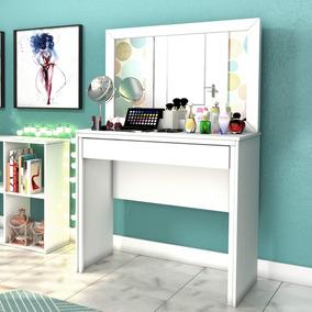 Penteadeira Com Espelho 1 Gaveta Twister Tcil Móveis Cj
