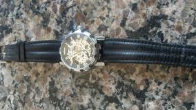 Relógio De Pulso Automático Winner Skeleton Mecânico