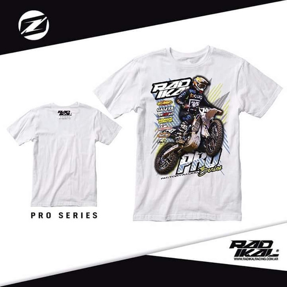 Remera Casual Algodon Manga Corta Radikal Motocross Enduro