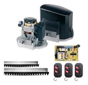 Kit Portão Eletrônico Unisystem 1/4hp Com 3 Controles