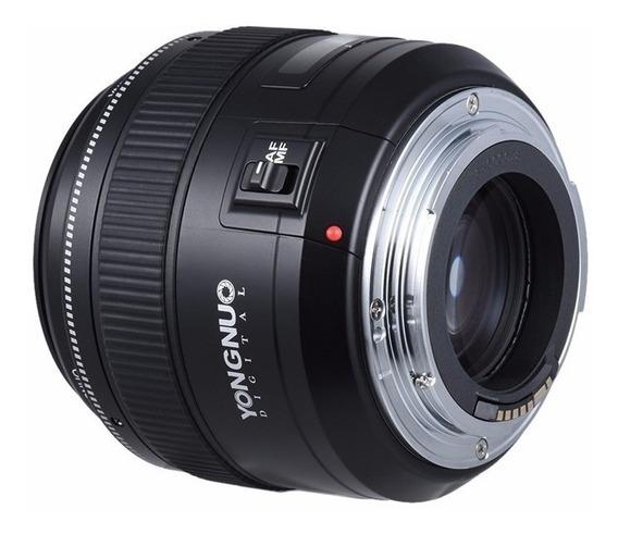 Lente Yongnuo 85mm F/ 1.8 Para Canon Yn 85mm - Produto Novo