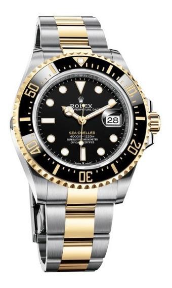 Relógio Eta -mod Sea Dweller Aço E Ouro 18k Base Eta 2840.
