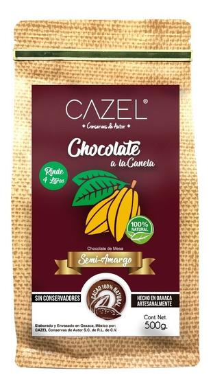 Chocolate Oaxaqueño Tradicional 500g Canela Y Almendras