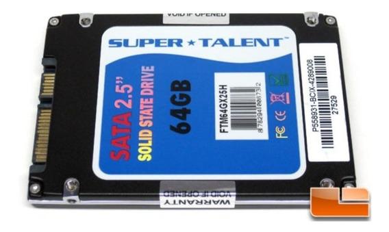 Hd Ssd 64gb Sata Ii 2.5 Pc Notebook Super Talent
